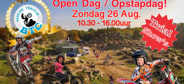 Open Dag & Opstapdag 26 Aug!